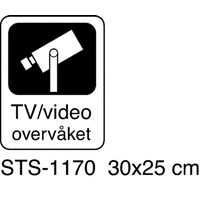 Skilt Kraftex Tv-video overvåket