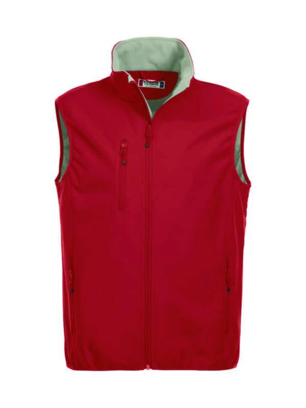 fde6d2f3 Ahlsell - Vest Basic rød L Softshell Poly/Spandex 280g/m2 - Vest NW Clique™  Softshell Basic 020911