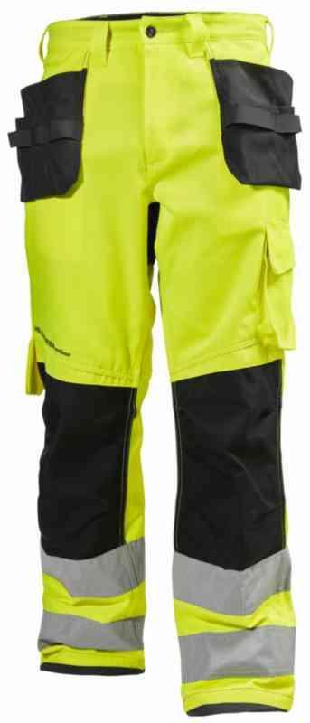 95807877 Ahlsell - Håndverksbukse HH Alna HiVis kl.2 gul/k.grå str D92 - Håndverksbukse  HH® Alna HiVis kl.2