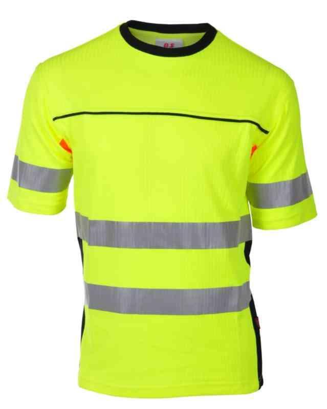 Ahlsell T skjorte BS Bergset HiVis kl.2 gulsva str XL T